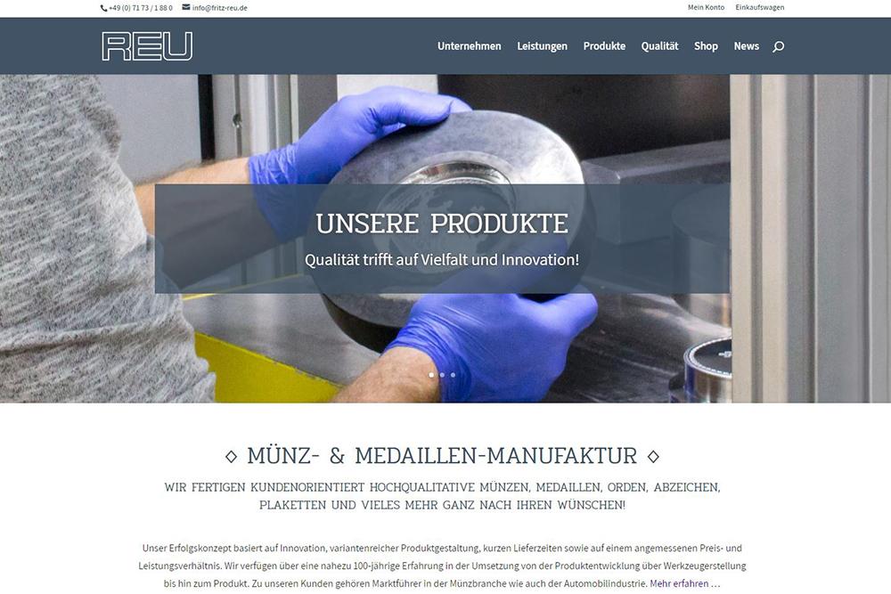 Fritz Reu GmbH Heubach Neue Homepage