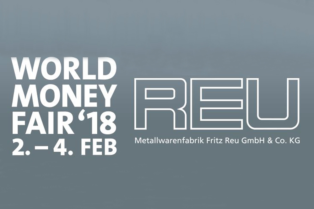 World Money Fair 2018 Berlin Messe Exhibition Fritz Reu GmbH Heubach