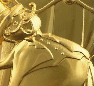 matt vergoldet