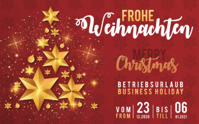 business holiday 23.12.2020 – 06.01.2021